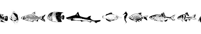 FishyPrint Two AOE  Font LOWERCASE