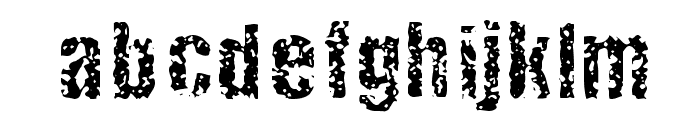 FistroRatted Normal Font LOWERCASE