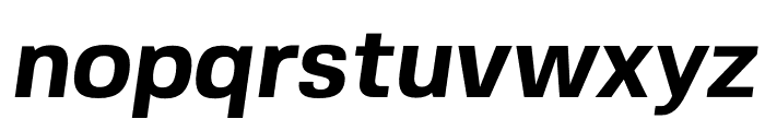 FivoSans-BoldOblique Font LOWERCASE