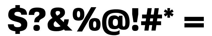 FivoSans-Heavy Font OTHER CHARS