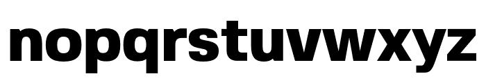 FivoSans-Heavy Font LOWERCASE