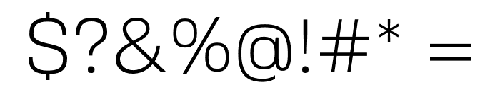 FivoSans-Light Font OTHER CHARS