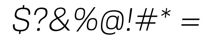 FivoSans-LightOblique Font OTHER CHARS