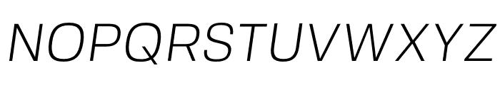 FivoSans-LightOblique Font UPPERCASE