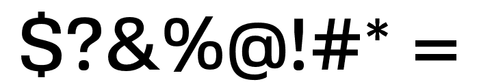 FivoSans-Medium Font OTHER CHARS