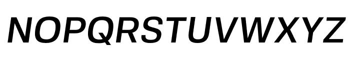 FivoSans-MediumOblique Font UPPERCASE