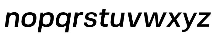 FivoSans-MediumOblique Font LOWERCASE