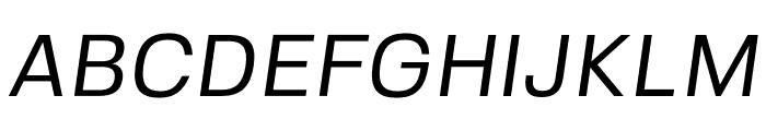 FivoSans-Oblique Font UPPERCASE