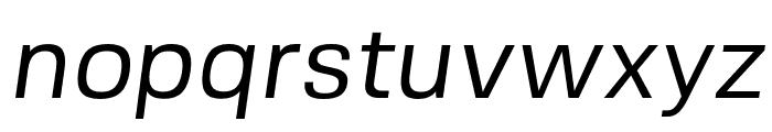 FivoSans-Oblique Font LOWERCASE