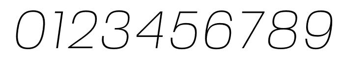 FivoSans-ThinOblique Font OTHER CHARS
