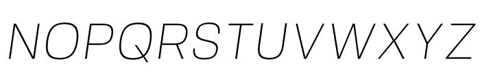 FivoSans-ThinOblique Font UPPERCASE
