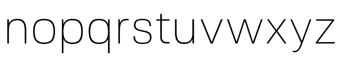 FivoSans-Thin Font LOWERCASE