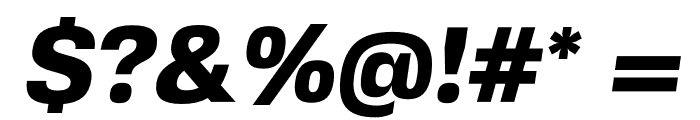 FivoSansModern-HeavyOblique Font OTHER CHARS