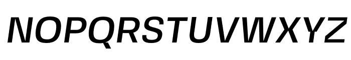 FivoSansModern-MediumOblique Font UPPERCASE