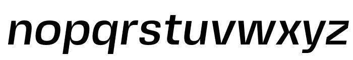 FivoSansModern-MediumOblique Font LOWERCASE