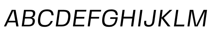 FivoSansModern-Oblique Font UPPERCASE