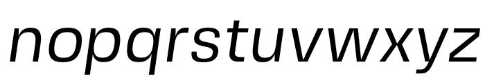 FivoSansModern-Oblique Font LOWERCASE