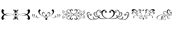 filigrees and ornaments ST Font LOWERCASE
