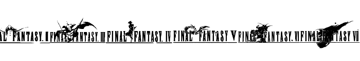 final fantasy elements Font OTHER CHARS