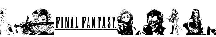 final fantasy elements Font LOWERCASE
