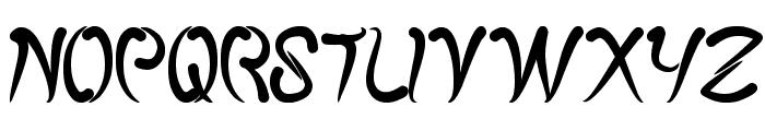 fish bone Font UPPERCASE