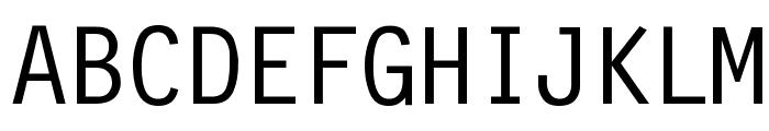 Financial Font UPPERCASE