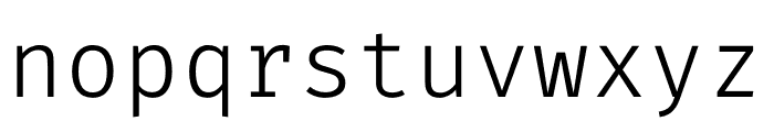 FiraCode Light Font LOWERCASE