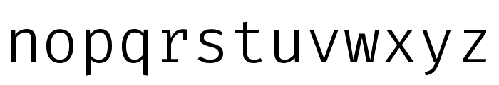 FiraCode VF Font LOWERCASE