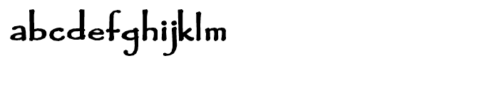 Fidelma Extra Bold Font LOWERCASE