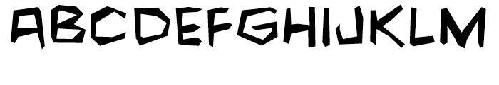Fighting Words Regular Font LOWERCASE