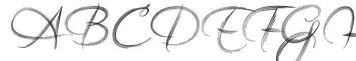 Filigree Regular Font UPPERCASE