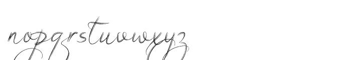 Filigree Regular Font LOWERCASE