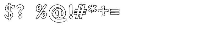 Fin Fraktur Outline Font OTHER CHARS