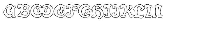 Fin Fraktur Outline Font UPPERCASE