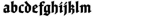 Fine Gothic Black Font LOWERCASE