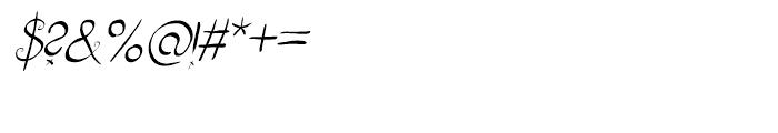 Fizgiger Alternate Oblique Font OTHER CHARS