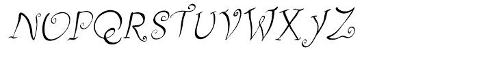 Fizgiger Alternate Oblique Font UPPERCASE