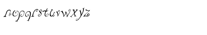 Fizgiger Alternate Oblique Font LOWERCASE