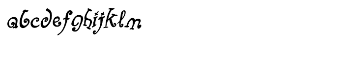 Fizgiger Bold Oblique Font LOWERCASE