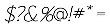 Fitz Sans SRF Oblique Font OTHER CHARS