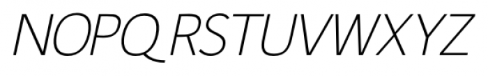 Fitz Sans SRF Oblique Font UPPERCASE