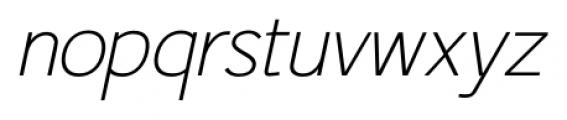 Fitz Sans SRF Oblique Font LOWERCASE