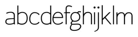 Fitz Sans SRF Regular Font LOWERCASE