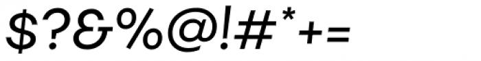 Fibra Regular Italic Font OTHER CHARS