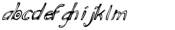 Fiddleshticks Italic Font LOWERCASE