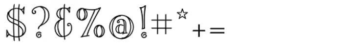 Fiddlestix Outline Font OTHER CHARS