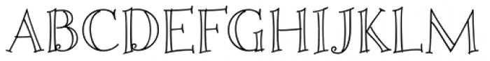 Fiddlestix Outline Font UPPERCASE
