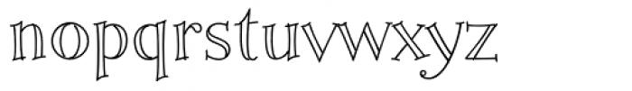 Fiddlestix Outline Font LOWERCASE