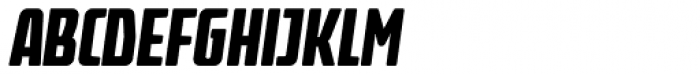 Fidel Black Italic Font UPPERCASE