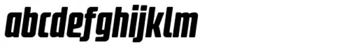 Fidel Black Italic Font LOWERCASE
